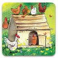 Luxe onderzetter - Chicken Coop Coaster