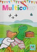 Kikker multicolor taart kleurboek