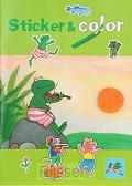 Kikker sticker & color zon kleurboek