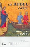 Bijbel open bij woorden van Jezus