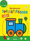 Spelletjesboek met stickers geel 2+