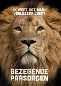 Gezegende paasdagen leeuw