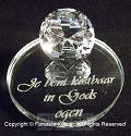 Spiegel+diamant Je bent kostbaar